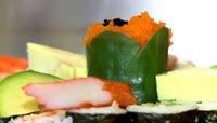 寿司精致美味菜品特写高清视频拍摄