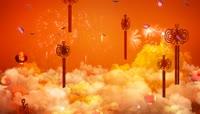 中国结灯笼红绸喜庆LED背景视频素材