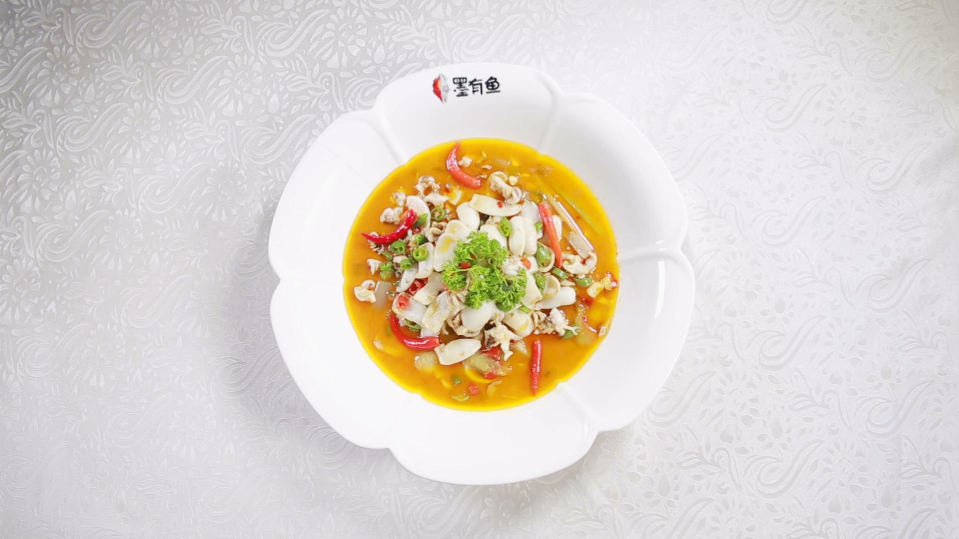 创意美食酸菜鱼烹饪视频素材