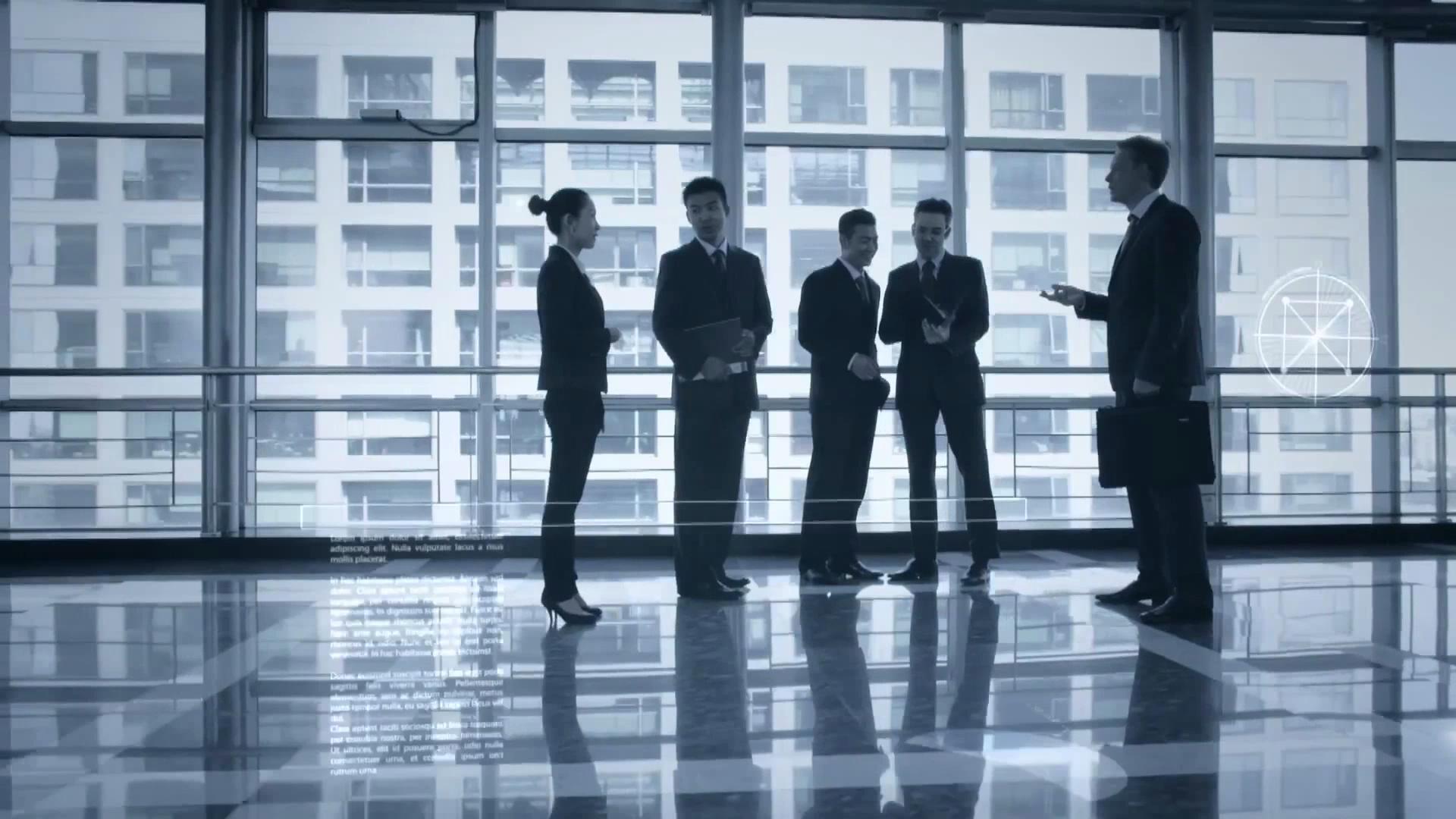 商务会议合作会谈科技信息化智能数据分析