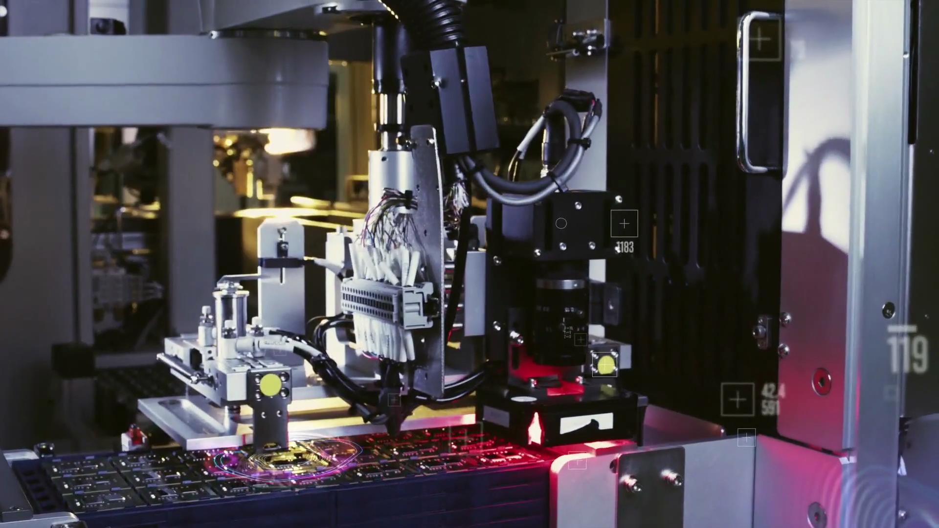 高科技芯片生产线