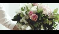 高清实拍插花艺术视频素材