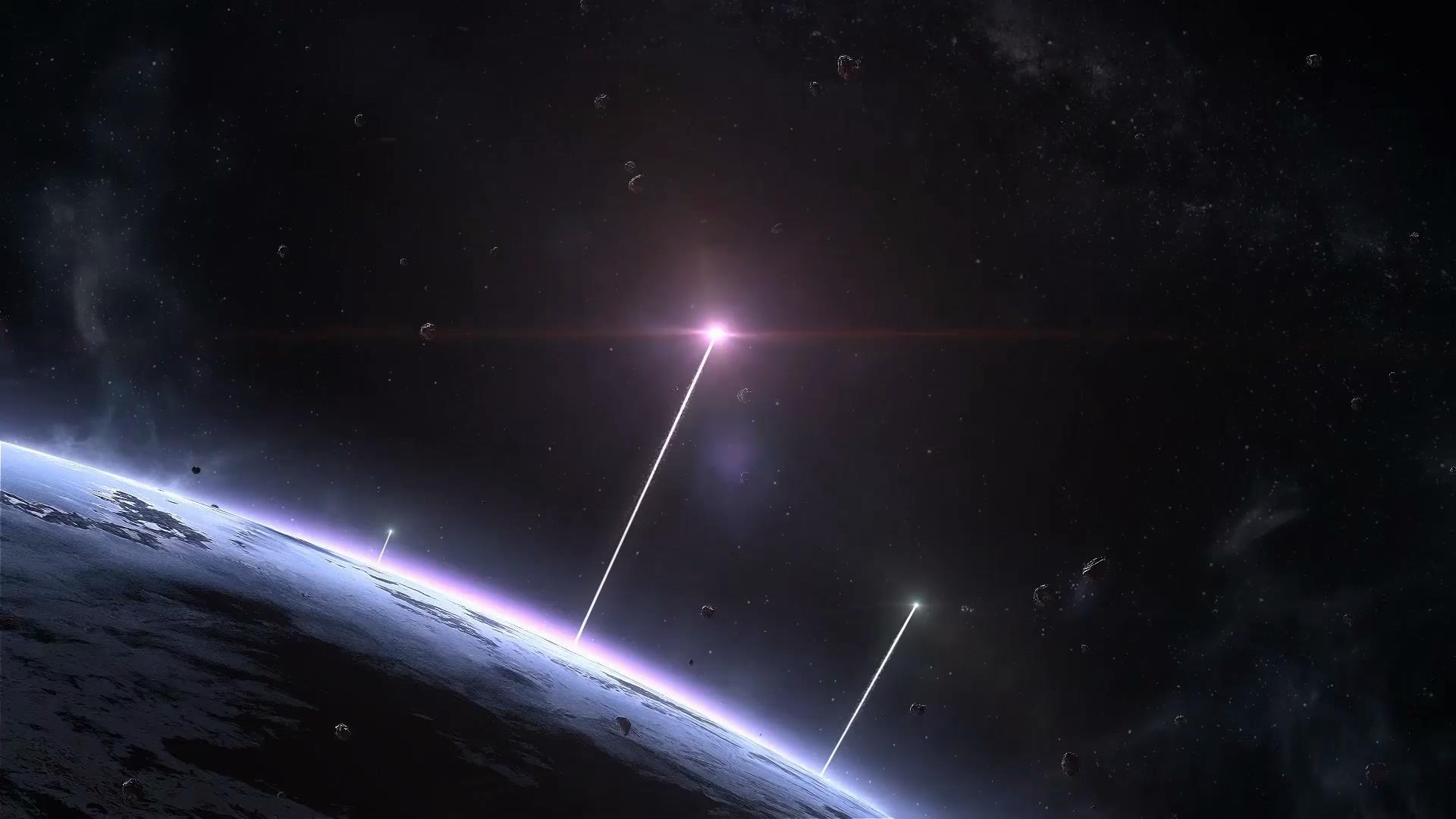 粒子光线冲出地球