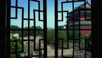 古典文化气息乡村城镇建筑特色景色文雅灯笼小桥高清视频实拍