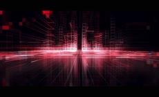 科技感空间网格线穿梭LED背景视频素材