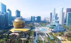 现代化城市地标建筑实拍