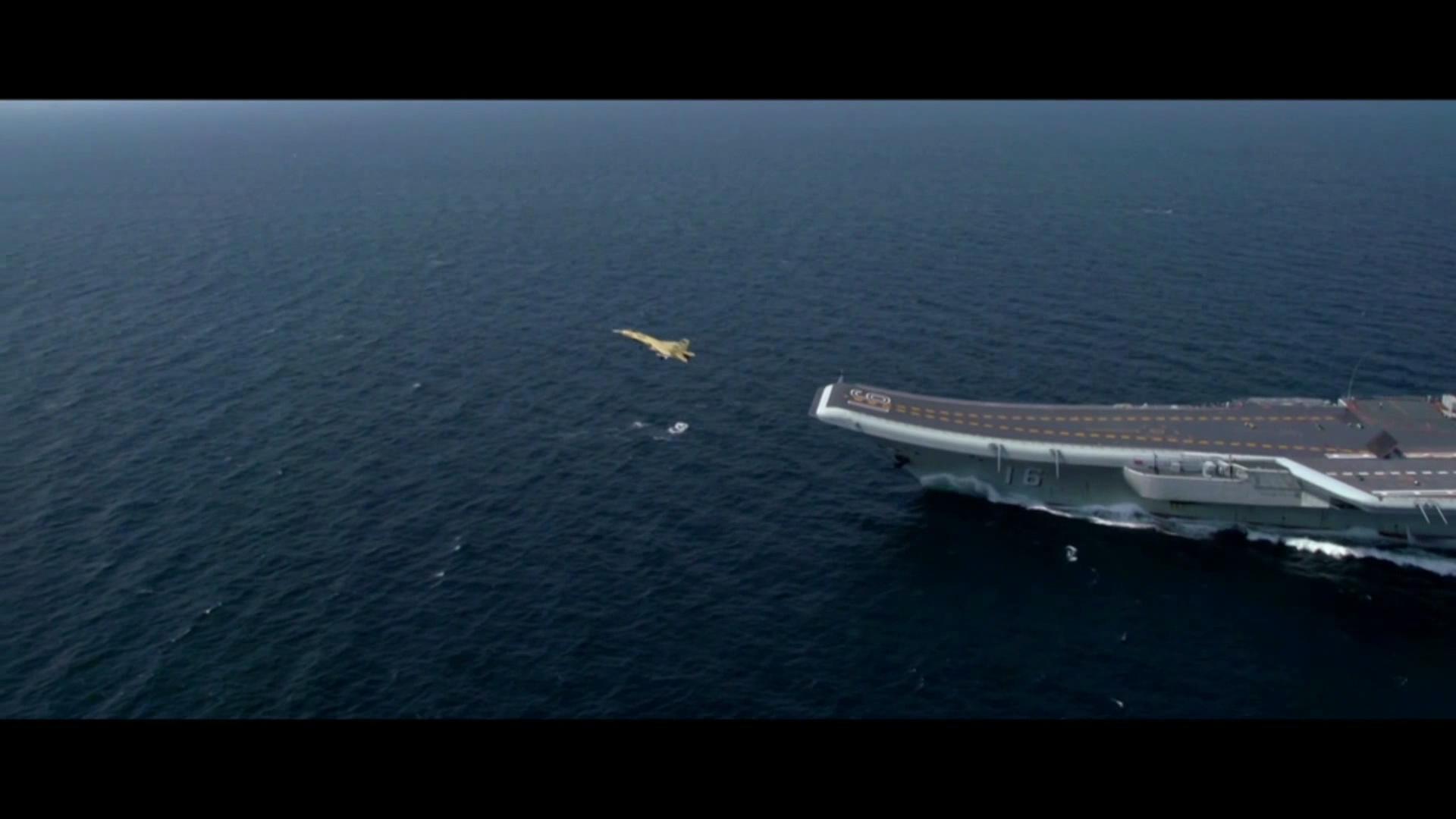 高清中国航母辽宁舰宣传视频素材