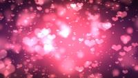 浪漫婚礼粉色心飞舞LED背景视频素材