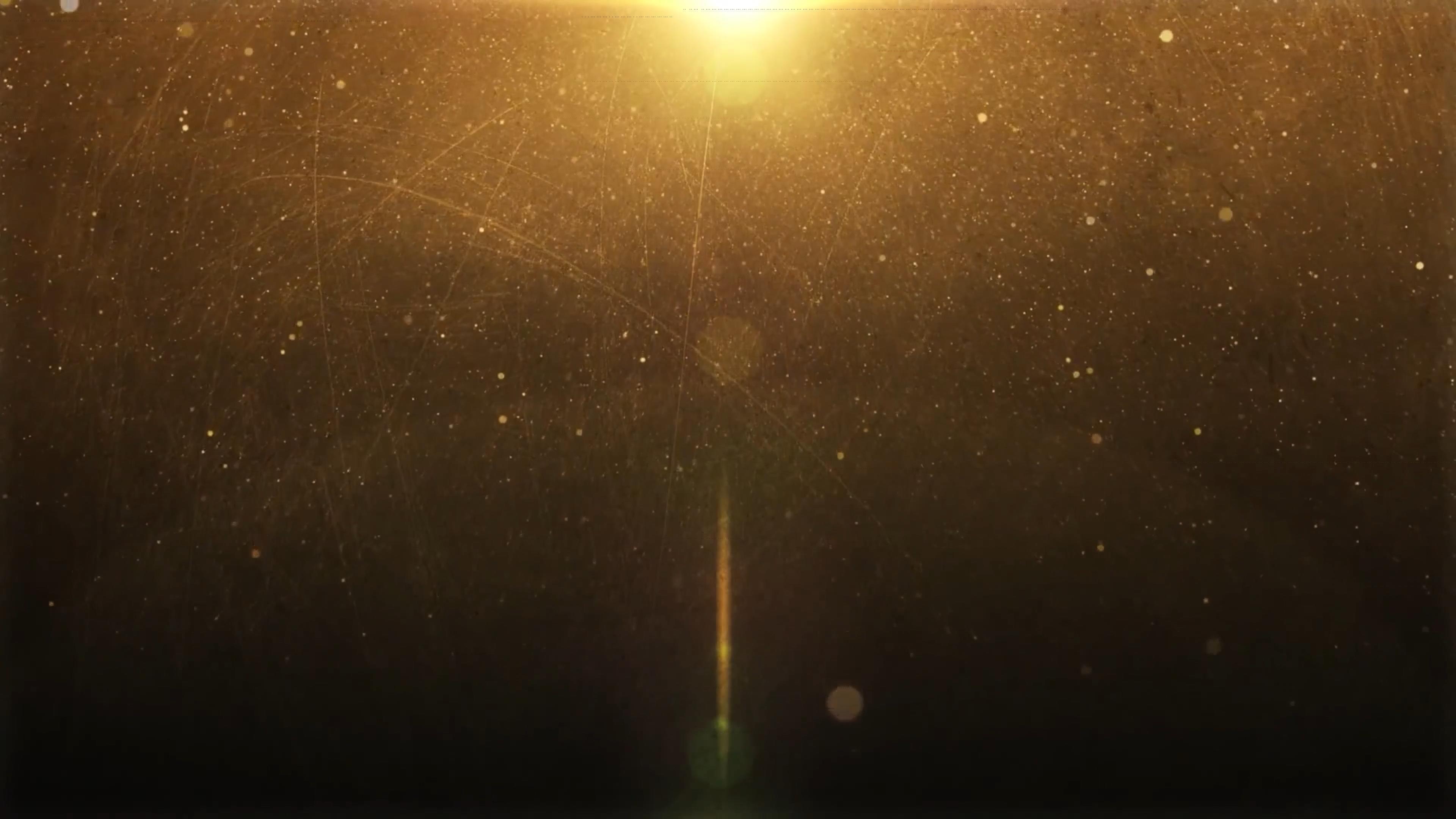 4K超清金色粒子动态背景视频素材