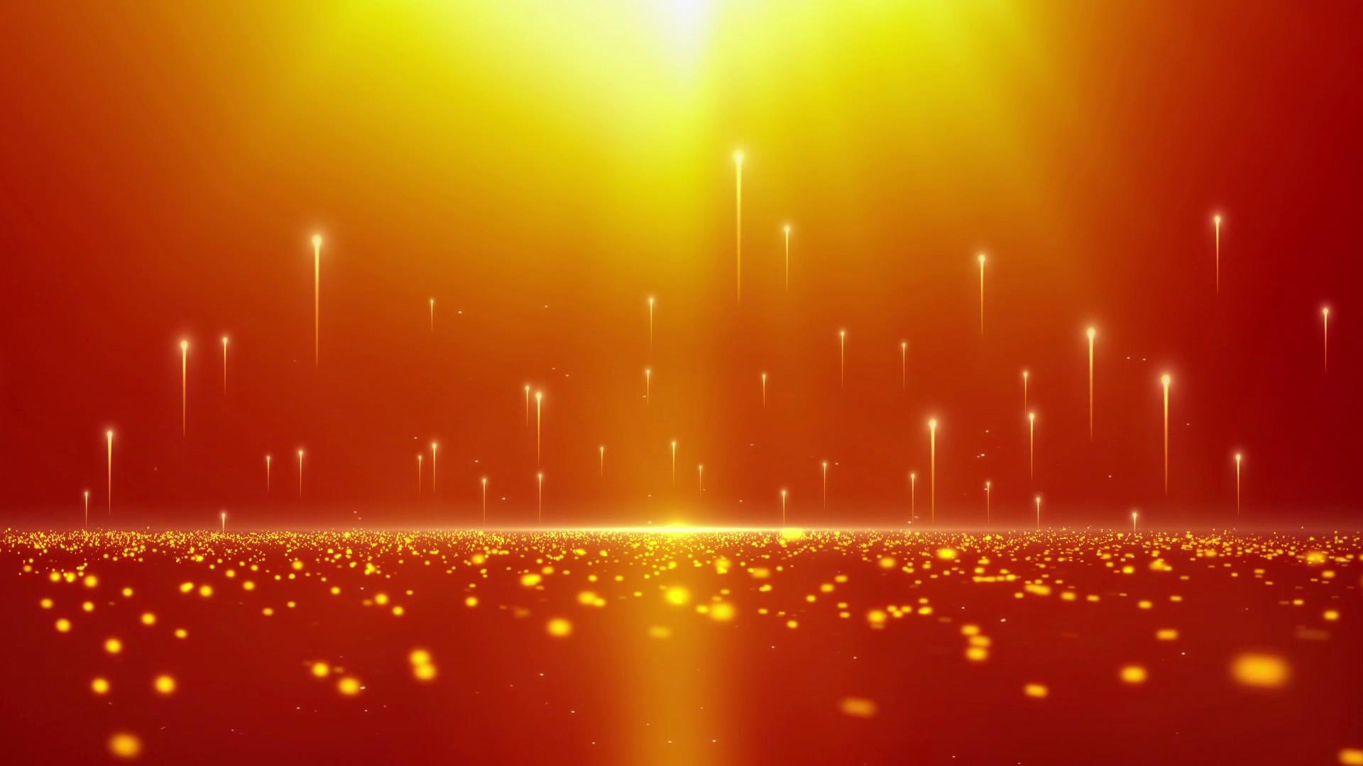 上升的金色粒子