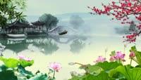古典中国风水墨江南背景高清视频素材