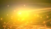金色线条粒子上升颁奖LED背景视频