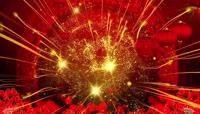 喜庆节日金色粒子光线灯笼舞台视频