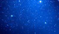 星光闪烁蓝色星空背景循环高清视频素材