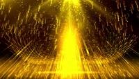 震撼华丽金色粒子光线晚会开场视频