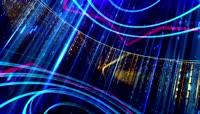 转动星光荧光粒子雨VJ视频LED动态视频