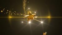金色星星带透明通道转场 \(3\)