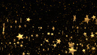金色星星带透明通道转场 \(6\)