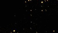 金色星星带透明通道转场 \(10\)
