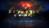 震撼烫金logo文字AE模板