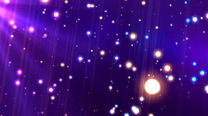 梦幻光斑粒子浪漫舞台视频