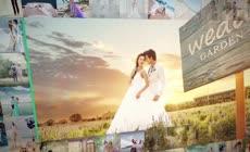 温馨浪漫爱情组合婚礼相册开场视频AE模板