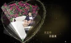 高端大气金色粒子婚礼相册AE模板