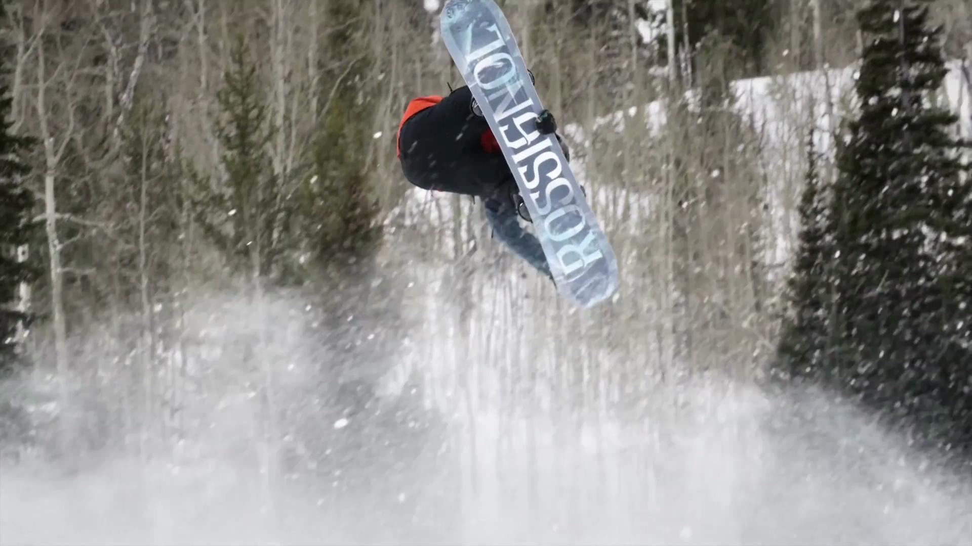 冬季滑雪极限运动视频素材