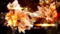 唯美大气旋转鲜花粒子光
