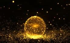 震撼唯美全息金色粒子背景视频