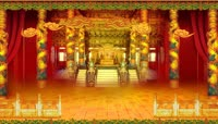 古典皇宫室内金色视频背景