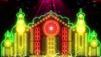 唯美梦幻城堡舞台背景