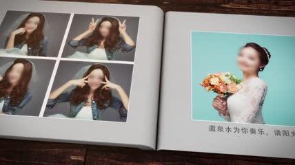浪漫婚礼相册AE模板