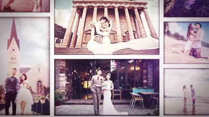 温馨浪漫爱情家庭婚礼相册Ae模板