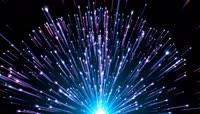 4K超清多彩粒子光束散射视频素材