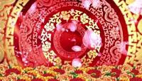 春节喜庆新婚民族风背景