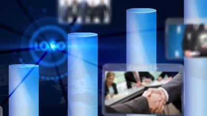 简洁科技logo照片展示模板