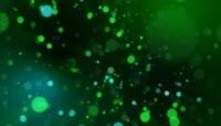 绿色炫彩粒子光斑动画循环背景高清视频素材