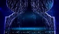 超唯美3D全息粒子雨珠帘浪漫视频