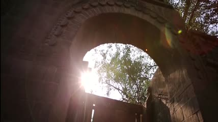 古代建筑萧条破败国库空虚高清实拍视频素材