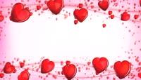 红色爱心装饰边框循环背景高清视频素材