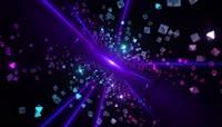 魔幻空间缝隙视觉冲击菱形粒子飘浮