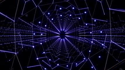 晚会年会绚丽光线LED背景视频