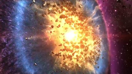 星球爆炸陨石撞地球视频素材大屏幕舞台晚会