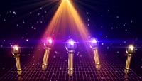 绚丽灯光粒子光效照射麦克风视频素材