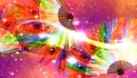 绚丽五彩孔雀羽毛扇子LED高清舞台背景