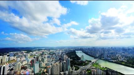 远洋货轮高架桥飞机城市高清实拍视频素材