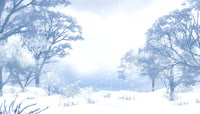 唯美风景唯美下雪雪树年会背景