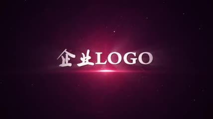大气粒子碰撞企业LOGO片头AE模板