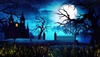 超唯美梦幻粒子月夜浪漫视频素材